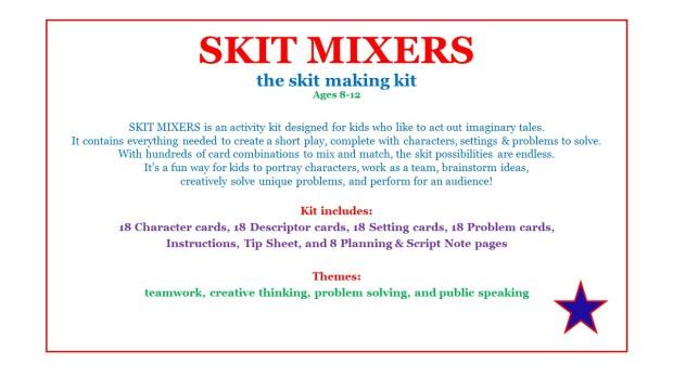 Skit Mixers Activity Kit- Decription Page