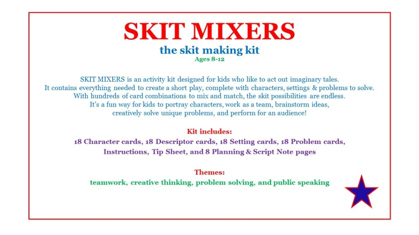Skit Mixers Activity Kit- Decription Page